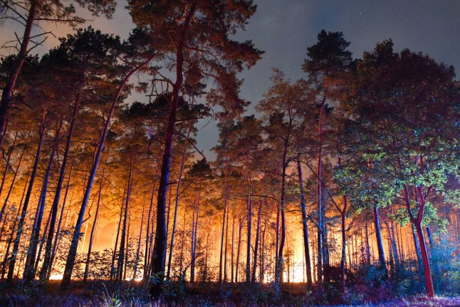 Hundreds evacuated near Berlin as forest fire threatens villages