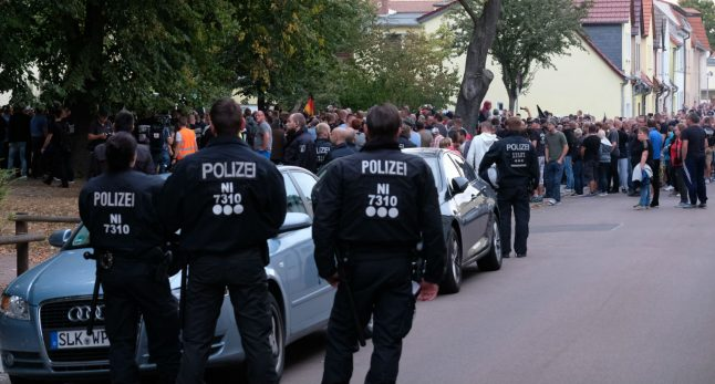 Far-right march held after Köthen death as officials plead for no repeat of Chemnitz