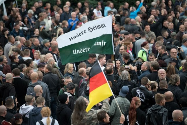 Man who gave Hitler salute in Chemnitz given eight month suspended sentence