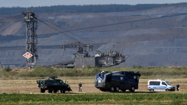Nine injured in Germany as police evict coal mine protest