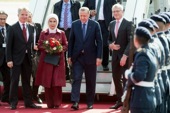 Erdogan greeted by supporters and protesters as Germany visit gets underway