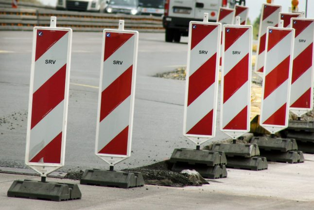 Trial starts of men who put cement blocks on Autobahn 'out of boredom'