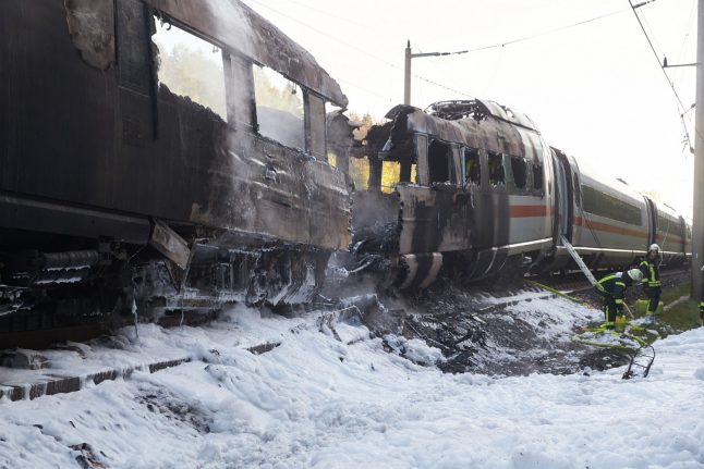 High-speed German train bursts into flames between Cologne and Frankfurt