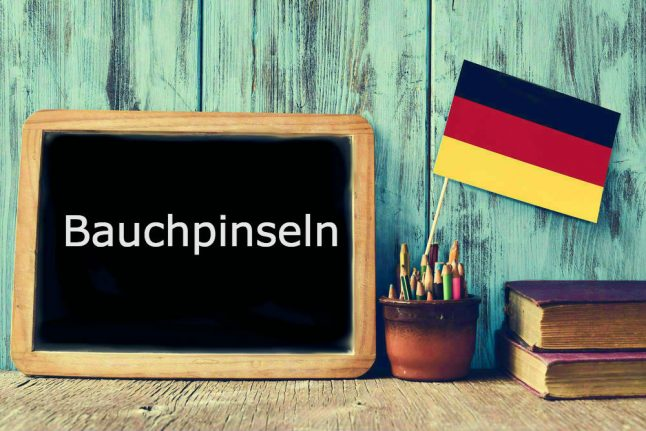 German word of the day: Bauchpinseln