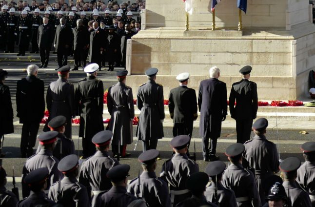 German leader takes part in UK's Remembrance Sunday for first time