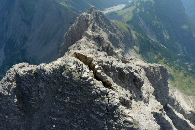 Hochvogel: A famed mountain straddling Germany and Austria faces a rocky collapse
