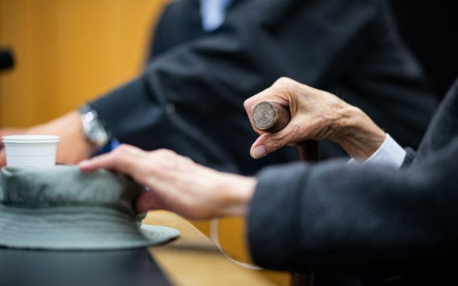 German ex-SS concentration camp guard, 94, weeps in court