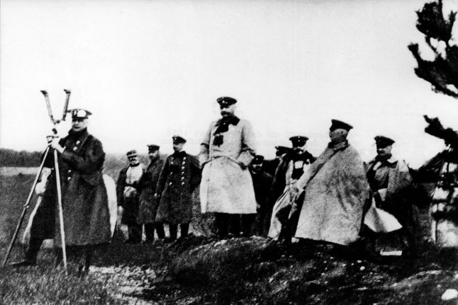 What led to the German collapse in WWI?
