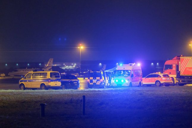 Flights suspended at Hanover airport after car on runway