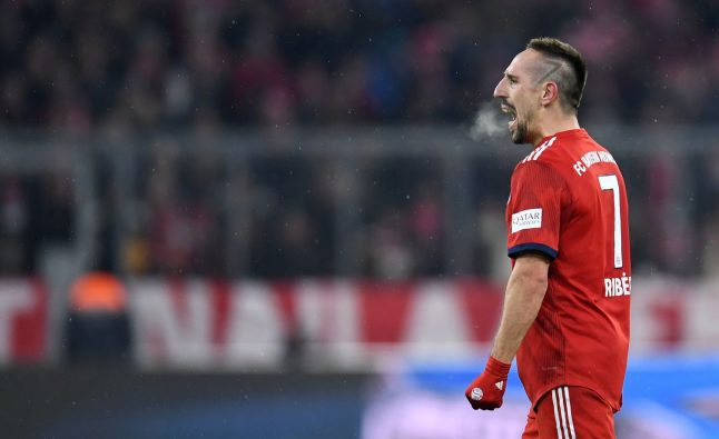 Ribery double fires Bayern up to second in Bundesliga