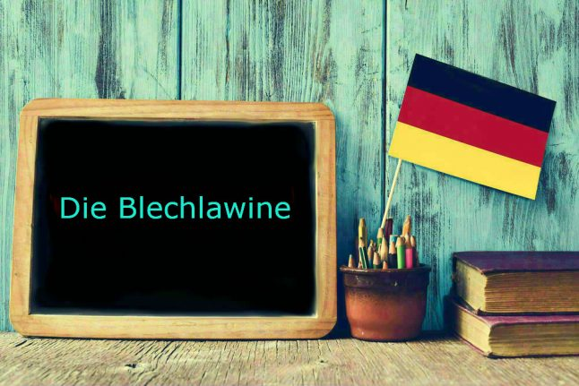 German word of the day: Die Blechlawine
