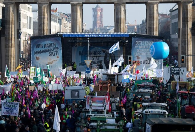 Thousands protest in Berlin against industrialised agriculture