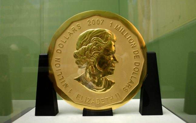 Four men face Berlin trial over theft of giant gold coin valued at €3.75 million