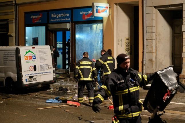 Investigation underway after explosion outside AfD office in Saxony