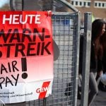 Strikes shut down schools and offices across Berlin on Wednesday