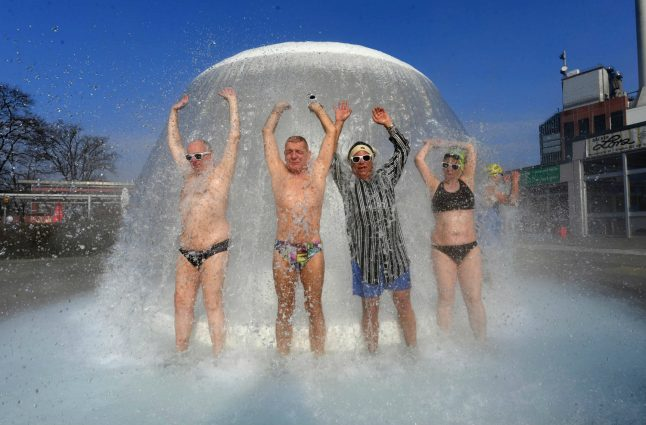 Germany's first outdoor pool to open as temperatures climb above 20C