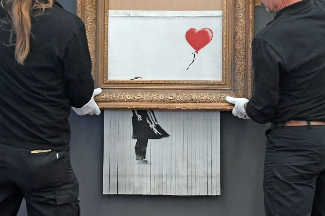 German museum takes steps to stop Banksy piece from shredding again