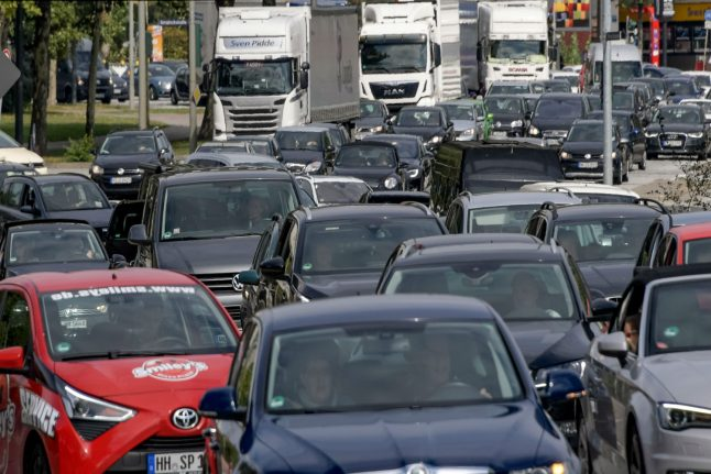 The German cities with the worst traffic jams