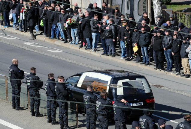 Hundreds of mourners attend funeral of neo-Nazi figure in Chemnitz