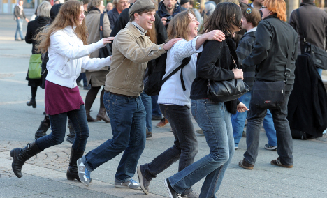 Protest against the dancing ban in Frankfurt in 2012. Photo: DPA