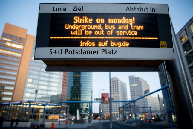What you need to know about Berlin's full day public transport strike
