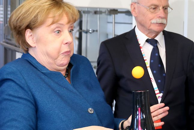 Can you guess what happened to Angela Merkel?