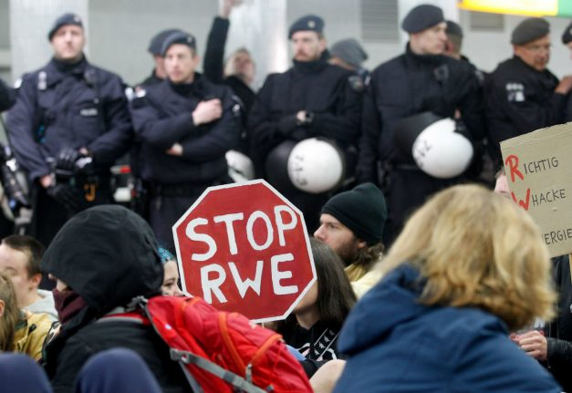Germany's climate protesting youth take fight to RWE