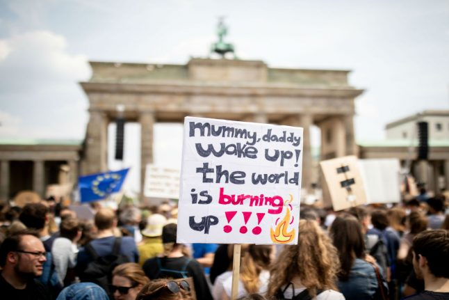 Berlin youths rally in climate protest before EU vote