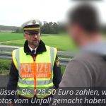 'Shame on you': German police officer praised for confronting prying drivers