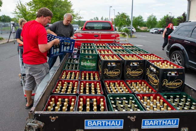 Locals in German town buy all the beer in protest against neo-Nazis