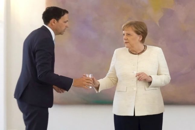 Merkel seen trembling in public for second time in less than two weeks