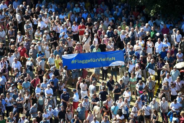 'Hate has no place here': 10,000 rally in Kassel against far-right violence