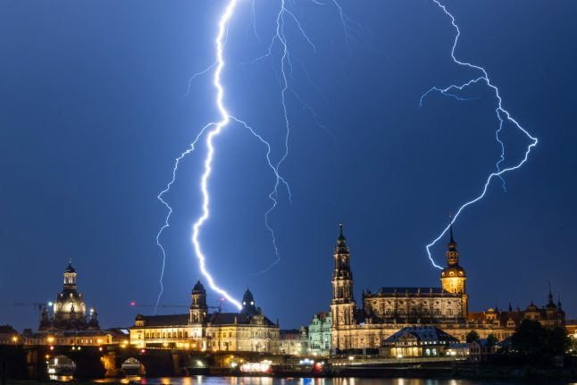 Thunderstorms and heat wave forecast for Germany