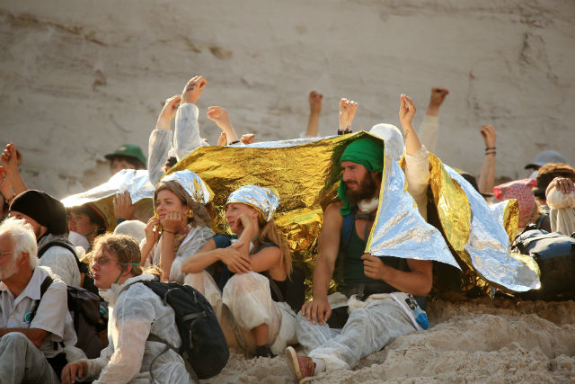 Climate activists storm lignite mine in Germany