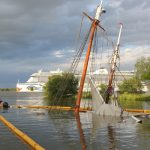 Collision sinks historic German ship after months-long costly renovation