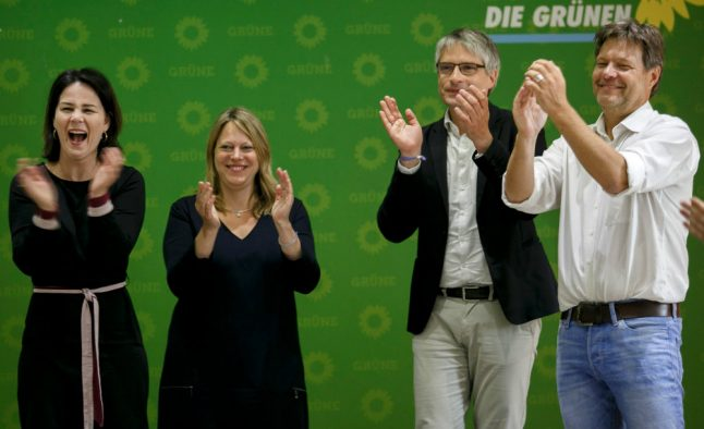 Greens top German poll for first time