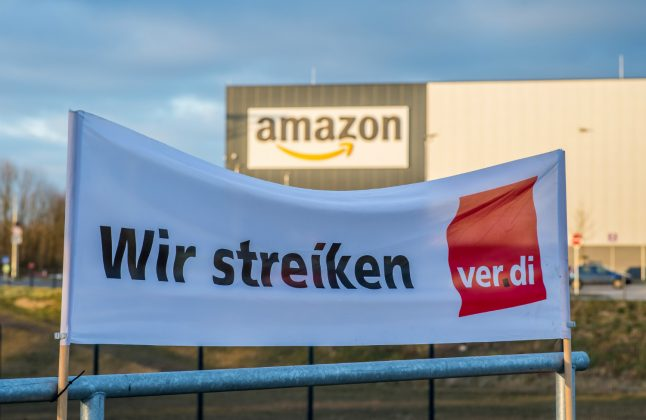 Amazon workers strike throughout Germany on 'Prime Days'