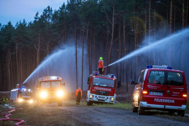 Hundreds evacuated as wildfire rages through eastern Germany