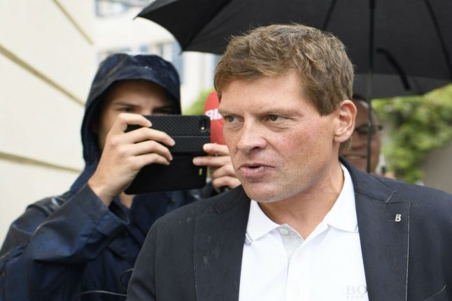 Former German cycling star fined for attacking escort at Frankfurt hotel