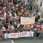 German activists stage anti-racism protest ahead of key state polls