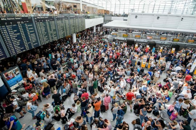 Parts of Munich airport shut down after man slips through security