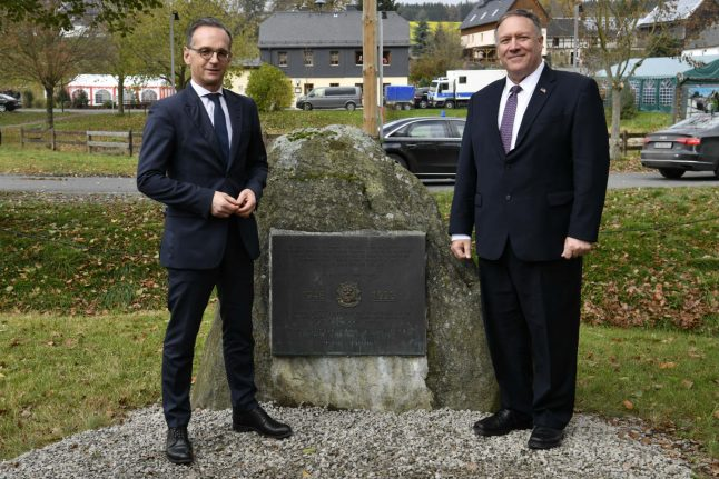 Mike Pompeo revisits army service past in Thuringia's 'Little Berlin'