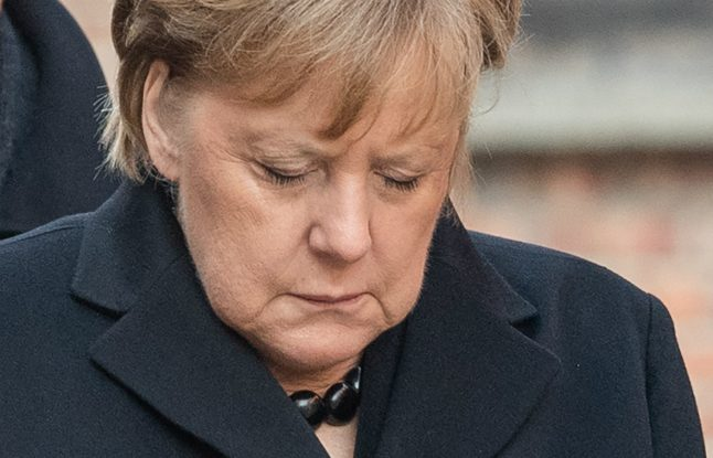 Remembering Nazi crimes inseparable from German identity, says Merkel