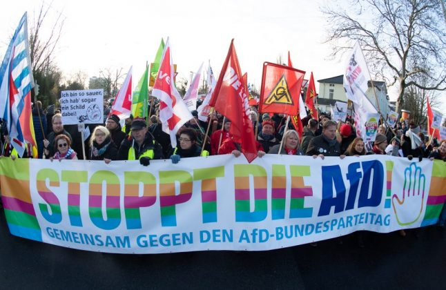Huge protests as Germany's far-right AfD picks new leaders