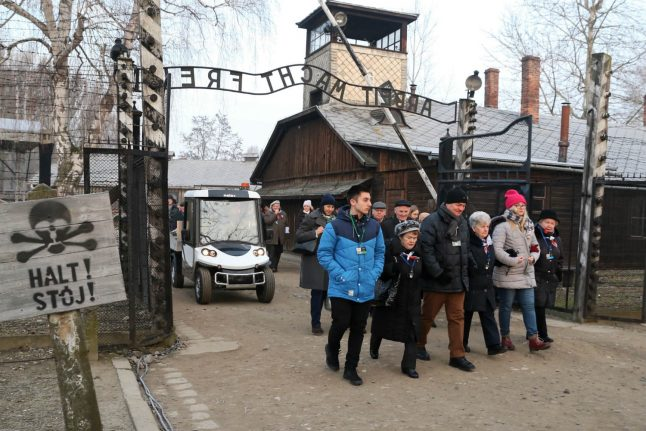 'It should never happen again': Auschwitz survivors mark liberation 75 years on