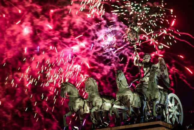 IN PICS: Berlin brings in 2020 with fireworks and winter bathing