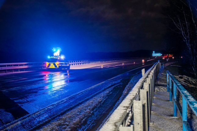 Icy Autobahn causes spate of crashes across Germany
