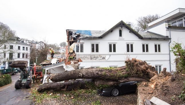 IN PICTURES: Winds up to 170km/h recorded as storm batters Germany