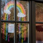 Why there are so many rainbows on German windows and footpaths