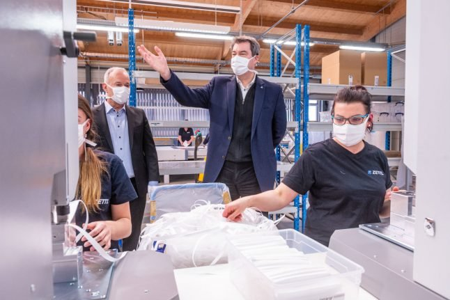 Germany enlists industrial giants to procure face masks and medical gear